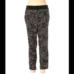 Ann Taylor Loft Floral Black Trousers Pants